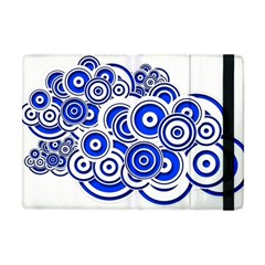 Trippy Blue Swirls Apple iPad Mini Flip Case