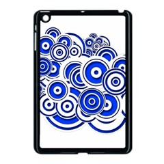 Trippy Blue Swirls Apple Ipad Mini Case (black)