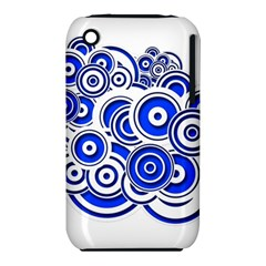 Trippy Blue Swirls Apple Iphone 3g/3gs Hardshell Case (pc+silicone)