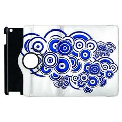 Trippy Blue Swirls Apple Ipad 2 Flip 360 Case