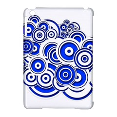 Trippy Blue Swirls Apple Ipad Mini Hardshell Case (compatible With Smart Cover)