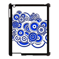 Trippy Blue Swirls Apple Ipad 3/4 Case (black)