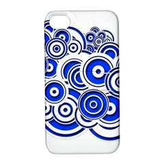 Trippy Blue Swirls Apple Iphone 4/4s Hardshell Case With Stand