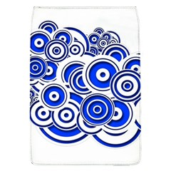 Trippy Blue Swirls Removable Flap Cover (Large)