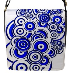 Trippy Blue Swirls Flap Closure Messenger Bag (small)