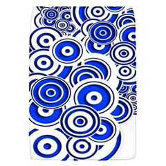 Trippy Blue Swirls Removable Flap Cover (small)
