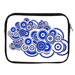 Trippy Blue Swirls Apple iPad Zippered Sleeve