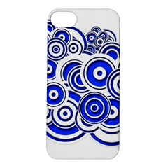Trippy Blue Swirls Apple Iphone 5s Hardshell Case