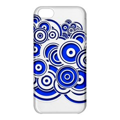 Trippy Blue Swirls Apple Iphone 5c Hardshell Case