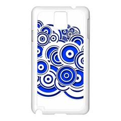 Trippy Blue Swirls Samsung Galaxy Note 3 N9005 Case (White)