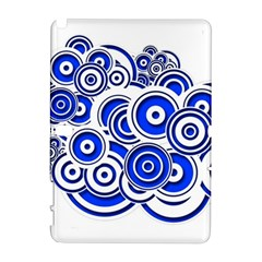 Trippy Blue Swirls Samsung Galaxy Note 10.1 (P600) Hardshell Case