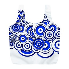 Trippy Blue Swirls Reusable Bag (l)