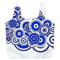 Trippy Blue Swirls Reusable Bag (xl)