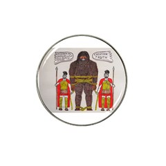 Big Foot & Romans Golf Ball Marker 4 Pack (for Hat Clip)
