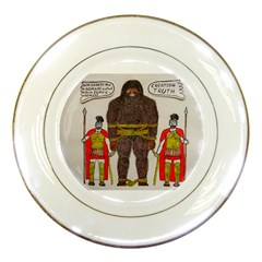 Big Foot & Romans Porcelain Display Plate