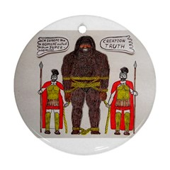 Big Foot & Romans Round Ornament (two Sides)