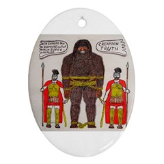 Big Foot & Romans Oval Ornament (Two Sides)