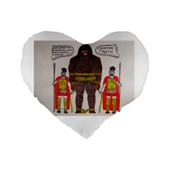 Big Foot & Romans 16  Premium Heart Shape Cushion
