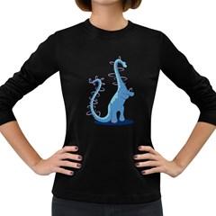 Hoopasaurus Women s Long Sleeve T-shirt (Dark Colored)