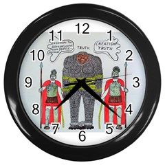 Big Foot 2 Romans Wall Clock (Black)