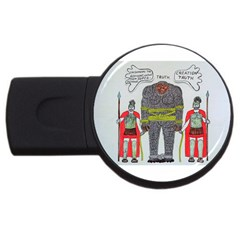 Big Foot 2 Romans 1GB USB Flash Drive (Round)