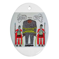 Big Foot 2 Romans Oval Ornament (Two Sides)