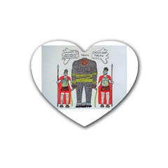 Big Foot 2 Romans Drink Coasters 4 Pack (Heart)