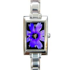 Purple Bloom Rectangular Italian Charm Watch