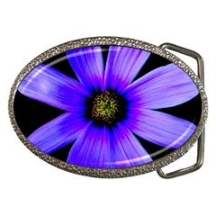 Purple Bloom Belt Buckle (oval)