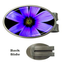 Purple Bloom Money Clip (Oval)