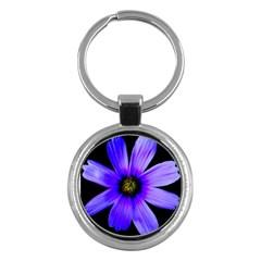 Purple Bloom Key Chain (Round)