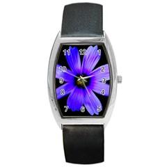 Purple Bloom Tonneau Leather Watch