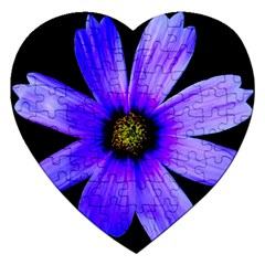 Purple Bloom Jigsaw Puzzle (heart)