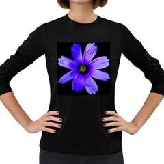 Purple Bloom Women s Long Sleeve T-shirt (Dark Colored)