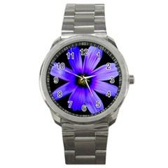 Purple Bloom Sport Metal Watch