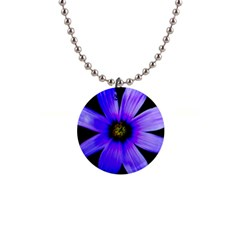 Purple Bloom Button Necklace