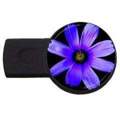 Purple Bloom 4gb Usb Flash Drive (round)