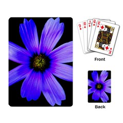 Purple Bloom Playing Cards Single Design