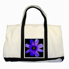 Purple Bloom Two Toned Tote Bag