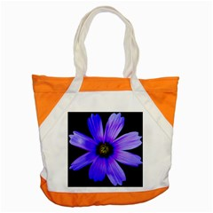 Purple Bloom Accent Tote Bag