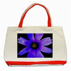 Purple Bloom Classic Tote Bag (Red)