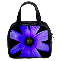 Purple Bloom Classic Handbag (Two Sides)