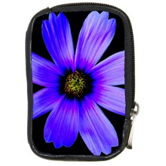Purple Bloom Compact Camera Leather Case