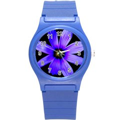 Purple Bloom Plastic Sport Watch (Small)
