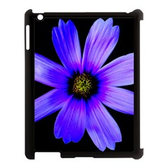 Purple Bloom Apple iPad 3/4 Case (Black)