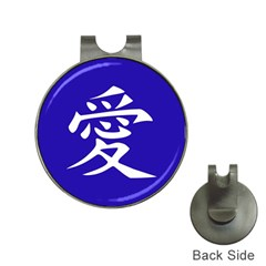Love in Japanese Hat Clip with Golf Ball Marker