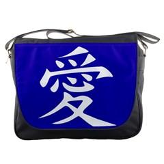 Love In Japanese Messenger Bag