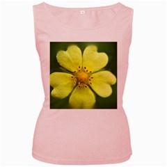 Yellowwildflowerdetail Women s Tank Top (Pink)