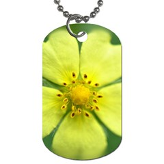 Yellowwildflowerdetail Dog Tag (Two-sided)