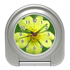 Yellowwildflowerdetail Desk Alarm Clock